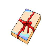 红色丝带装饰物礼盒