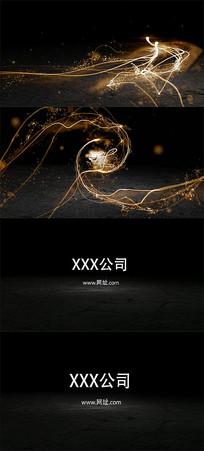 简短光效粒子logo展示视频模板