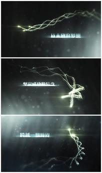 粒子光线视频模板