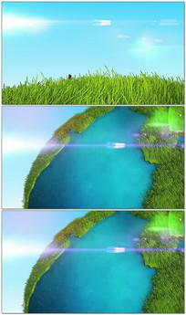 绿色环保生态片头logo视频模板