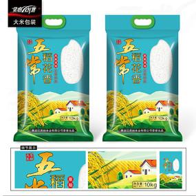 大米五常大米稻花香包装设计