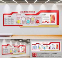 红色大型企业文化立体文化墙