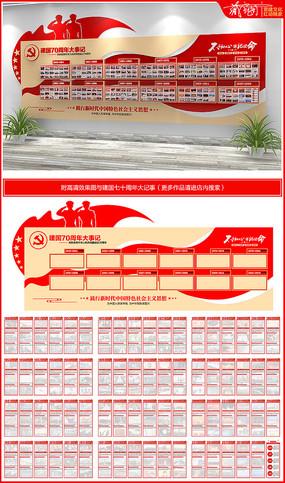 建国国庆70周年党建文化墙