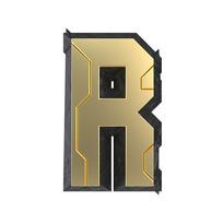 科技感立体字母R