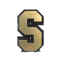 科技感立体字母S