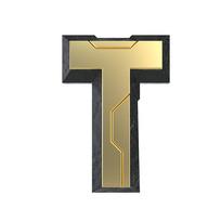 科技感立体字母T