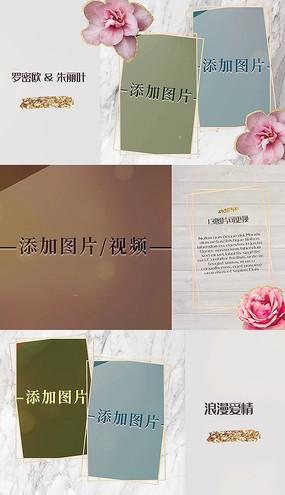 浪漫婚礼回忆相册幻灯片pr模板