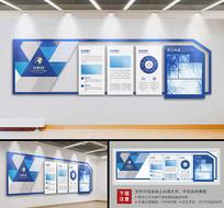 蓝色简约大型企业文化立体文化墙