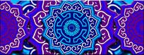 蒙古族花紫色背景 PSD