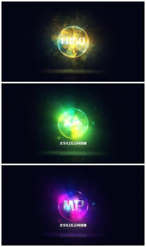 魔法唯美粒子震撼logo视频模板