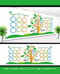 清晰风学校照片墙设计