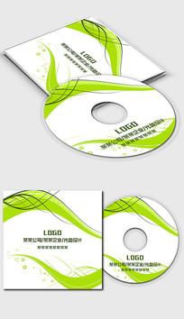 清新绿色环境环保行业光盘封面设计