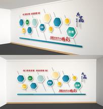 企业文化墙照片墙员工风采墙立体展板