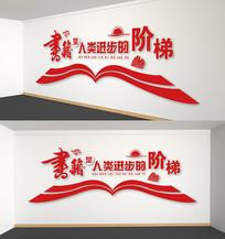 图书馆阅览室校园文化墙