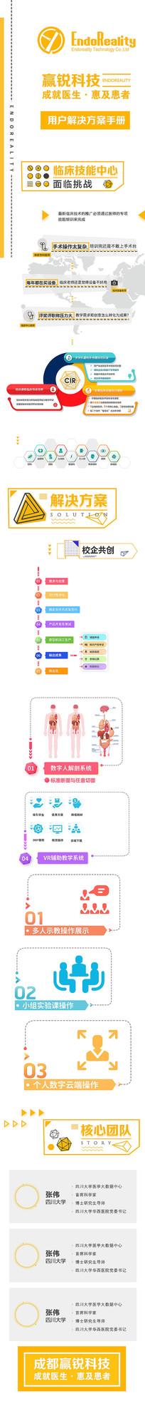 原创医疗企业橙色企业产品介绍H5