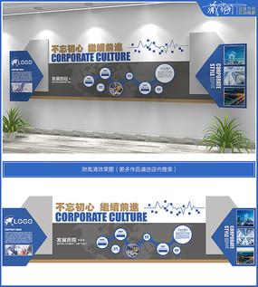 简约大气企业文化墙设计
