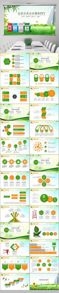 垃圾分类处理环保生态政府企业资源节约培训PPT
