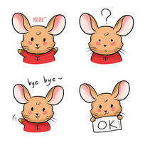 原创元素潮流老鼠表情包