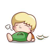 吃西瓜的男孩子