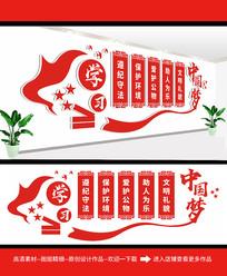 红色弘扬校园文化墙设计