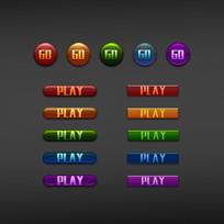 金属按钮-精致水晶质感按钮-彩色按钮