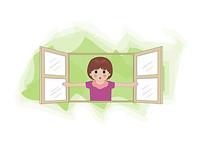 开窗透气卡通图片