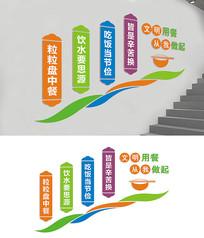 食堂楼梯宣传标语文化墙