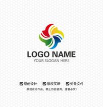 四色风车LOGO设计