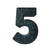 岩石质感倒计时周年庆数字5