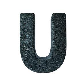 岩石质感字母元素 PSD