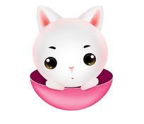 原创可爱卡通动物小白兔