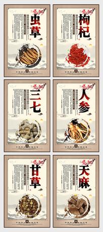中国风中医文化中药展板