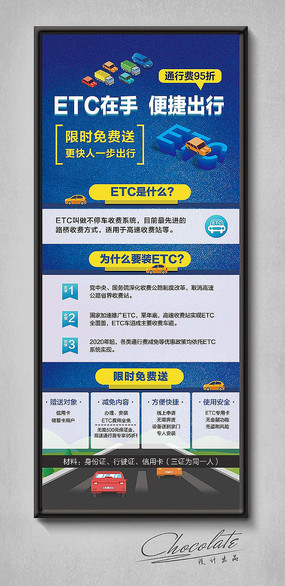 ETC信用卡免费送易拉宝