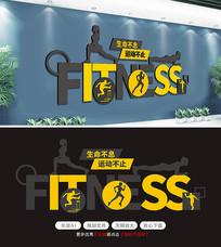 创意字母健身房运动文化墙