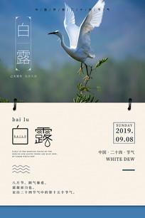 传统节日白露海报