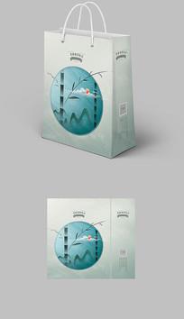 古典中国风新中式水墨手提袋纸袋