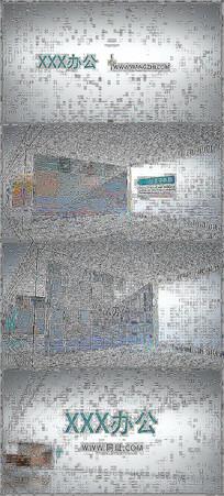 简洁三维空间立体商务图文展示AE视频模板