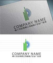 p字母LOGO标志设计
