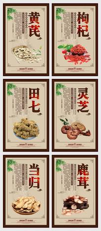 中国风中医药材文化展板