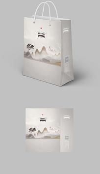 中秋国庆中国风新中式水墨手提袋纸袋