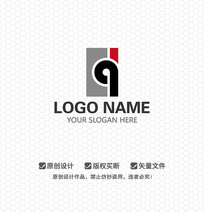 DQ字母艺术文化LOGO设计