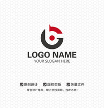 GB字母商业LOGO设计