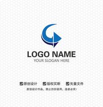 G字母箭头LOGO设计