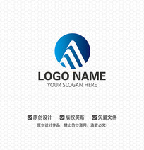 M字母建筑工程LOGO设计
