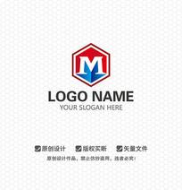 M字母铸造工业LOGO设计