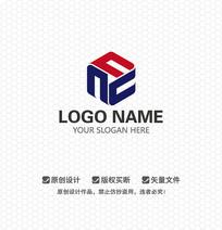 N字母科研机构LOGO设计