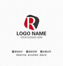 R字母文化传播LOGO设计