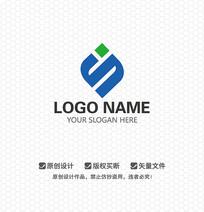 S字母简约时尚LOGO设计