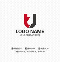 TJ字母简约LOGO设计