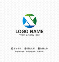 X字母科技环保LOGO设计